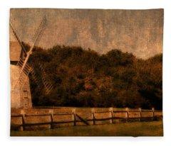 Cape Cod Windmill Fleece Blanket