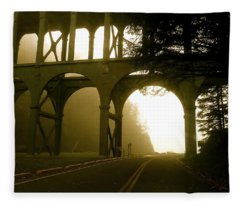 Cape Creek Bridge Fleece Blanket