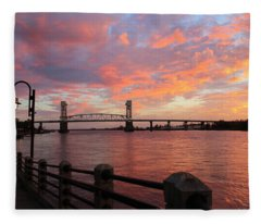 Cape Fear Bridge Fleece Blanket