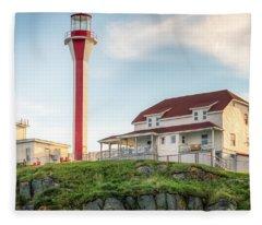 Cape Forchu Lighthouse Fleece Blanket
