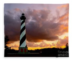 Cape Hatteras Sunset Fleece Blanket