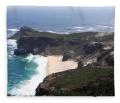 Cape Of Good Hope Coastline - South Africa Fleece Blanket