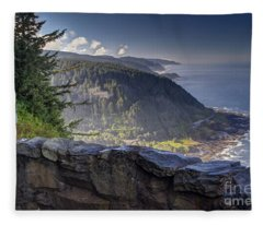 Cape Perpetua Lookout Fleece Blanket