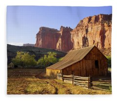 Capitol Barn Fleece Blanket
