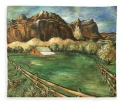Capitol Reef Utah - Landscape Art Painting Fleece Blanket