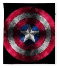 Captain America Shield Fleece Blanket