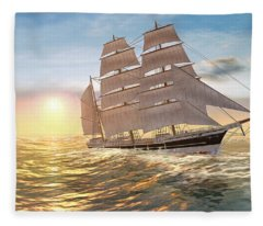 Captain Larry Paine Clippership Fleece Blanket