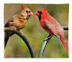 Cardinal Love Fleece Blanket