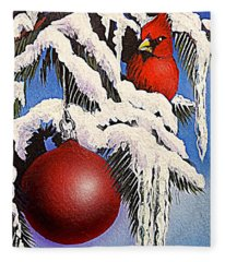 Cardinal One Ball Fleece Blanket