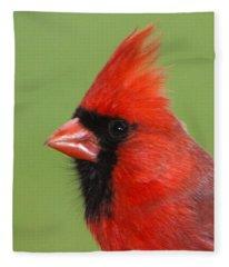 Cardinal Portrait Fleece Blanket