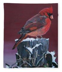Cardinal Winter Songbird Fleece Blanket