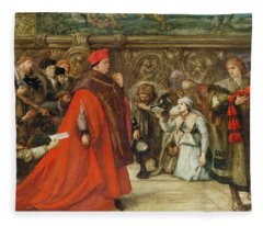 Cardinal Wolsey, Chancellor Of England, On His Progress To Westminster Hall, 1887 Wc On Paper Fleece Blanket