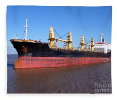 Cargo Ship Fleece Blanket