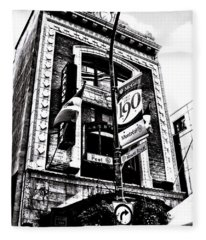 Fleece Blanket featuring the photograph Carlos And Pepe's Montreal Mexican Bar Bw by Shawn Dall