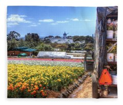 Carlsbad Flower Fields Fleece Blanket