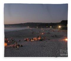 Carmel Beach Bonfires Fleece Blanket