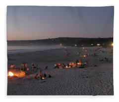 Carmel Beach Bonfires Fleece Blanket