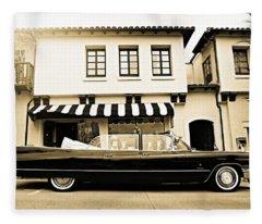 Carmel Cadillac Fleece Blanket