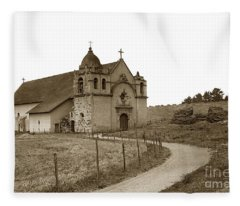 Carmel Mission Monterey Co. California Circa 1890 Fleece Blanket