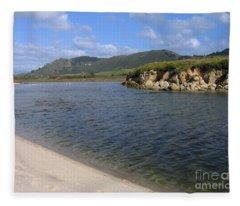 Carmel River Lagoon Fleece Blanket