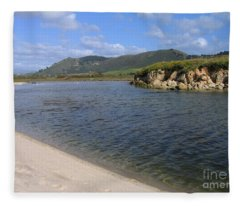 Carmel River Lagoon Fleece Blanket