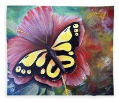 Carnival Butterfly Fleece Blanket