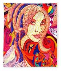 Carnival Girl Fleece Blanket