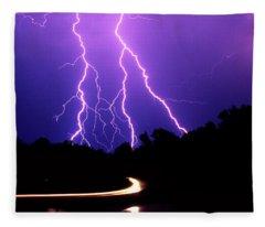 Carolina Electrical Storm Fleece Blanket