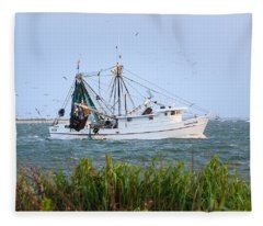 Carolina Girls Shrimp Boat Fleece Blanket