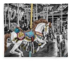 Carousel Horse Equ168125 Fleece Blanket