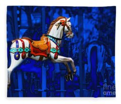 Carousel Horse Fleece Blanket