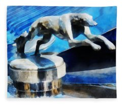 Cars - Lincoln Greyhound Hood Ornament Fleece Blanket