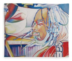 Carter Beauford Colorful Full Band Series Fleece Blanket