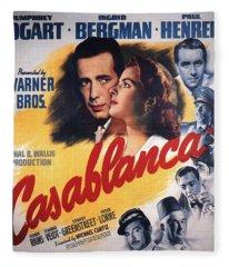 Casablanca In Color Fleece Blanket