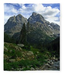 Cascade Creek The Grand Mount Owen Fleece Blanket