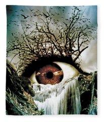 Cascade Crying Eye Fleece Blanket