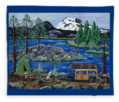 Cascade Lake Sparks Fleece Blanket