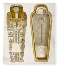 Case And Mummy In Its Cerements Fleece Blanket