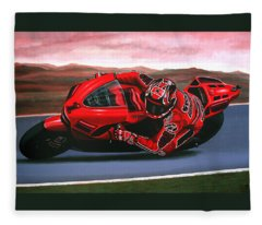 Casey Stoner On Ducati Fleece Blanket