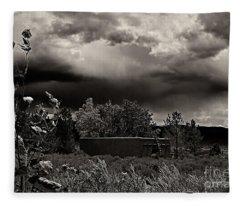 Casita In A Storm Fleece Blanket