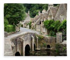 Castle Combe Cotswolds Village Fleece Blanket