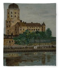 Castle Of Vyborg Fleece Blanket