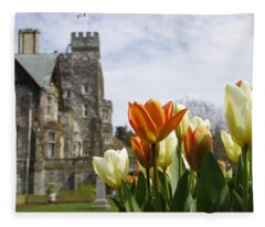 Castle Tulips Fleece Blanket