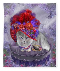 Cat In The Red Hat Fleece Blanket