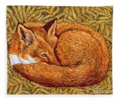 Cat Napping Fleece Blanket