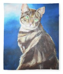 Cat Profile Fleece Blanket