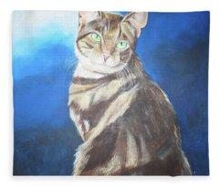 Cat Profile Fleece Blanket