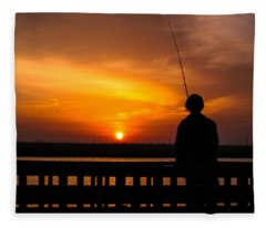 Catching The Sunset Fleece Blanket