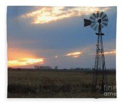 Catching The Wind In South Dakota Fleece Blanket