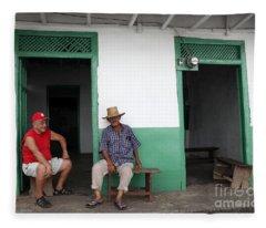Catching Up In Panama Fleece Blanket